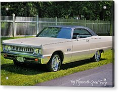 '69 Plymouth Sport Fury Acrylic Print by Thomas Schoeller