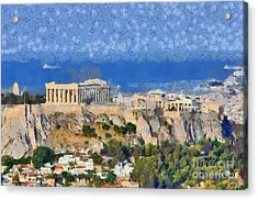 Acropolis Of Athens Acrylic Print by George Atsametakis