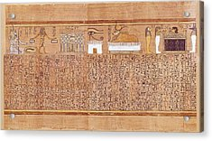 Book Of The Dead Or Papyrus Of Any. Ca Acrylic Print by Everett