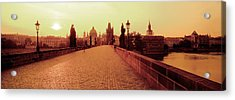 Charles Bridge, Prague, Czech Republic Acrylic Print by Panoramic Images