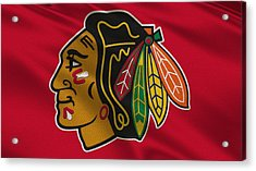 Chicago Blackhawks Uniform Acrylic Print by Joe Hamilton