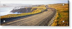 Dirt Road Passing Through A Landscape Acrylic Print by Panoramic Images