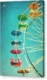 Ferris Wheel Acrylic Print by June Marie Sobrito