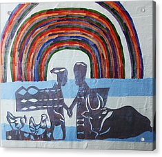 Kintu And Nambi Acrylic Print by Gloria Ssali