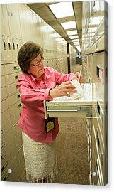 Salt Lake City Genealogical Research Acrylic Print by Jim West