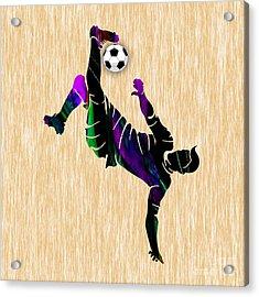 Soccer Acrylic Print by Marvin Blaine