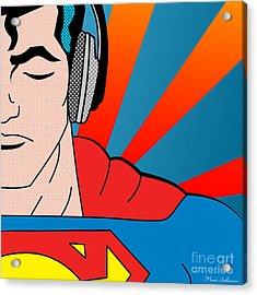 Superman  Acrylic Print by Mark Ashkenazi