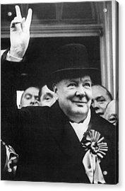 Winston Churchill Acrylic Print by Granger