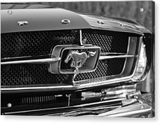 1965 Shelby Prototype Ford Mustang Grille Emblem Acrylic Print by Jill Reger