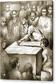 Biblical Illustration Acrylic Print by Alex Tavshunsky