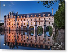 Chateau Chenonceau Acrylic Print by Brian Jannsen