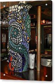 Mosaic Pillar Acrylic Print by Charles Lucas