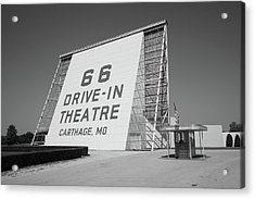 Route 66 - Drive-in Theatre Acrylic Print by Frank Romeo