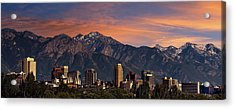 Salt Lake City Skyline Acrylic Print by Utah Images