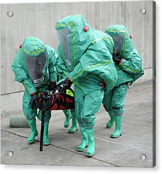 Training Exercise For Major Emergency Acrylic Print by Public Health England