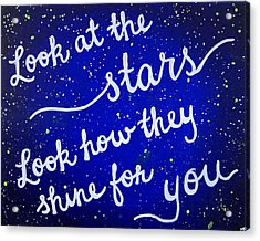 8x10 Look At The Stars Acrylic Print by Michelle Eshleman