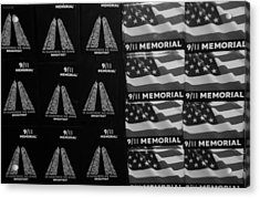 9/11 Memorial For Sale In Black And White Acrylic Print by Rob Hans
