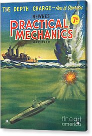 1940s Uk Practical Mechanics Magazine Acrylic Print by The Advertising Archives