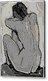 Alone With Grief Acrylic Print by Pemaro
