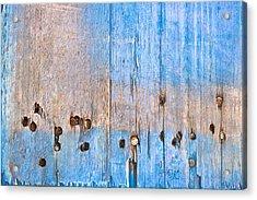 Blue Wood Acrylic Print by Tom Gowanlock