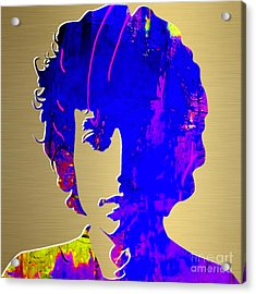 Bob Dylan Gold Series Acrylic Print by Marvin Blaine