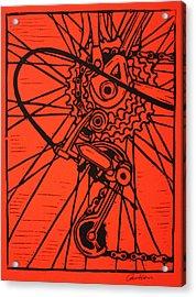 Derailluer Acrylic Print by William Cauthern