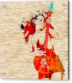 Guitar Goddess Acrylic Print by Marvin Blaine
