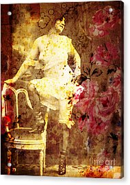 1950s Portraits Acrylic Print featuring the digital art Winsom Women by Chris Andruskiewicz