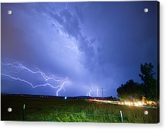 95th And Woodland Lightning Thunderstorm View Acrylic Print by James BO  Insogna