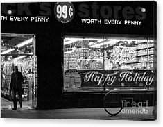 99 Cents - Worth Every Penny Acrylic Print by Miriam Danar