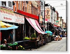 9th Street Italian Market Philadelphia Acrylic Print by Bill Cannon