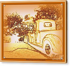 A And W Drive In Acrylic Print by Bobbee Rickard