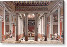 A Banquet In Ancient Greece Acrylic Print by Nordmann