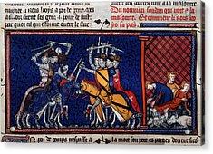 A Battle; Pestilence Acrylic Print by British Library