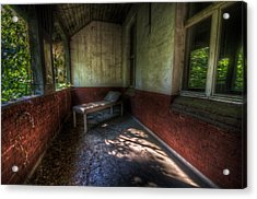 A Bed Outside Acrylic Print by Nathan Wright