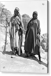 A Bedouin And His Wife Acrylic Print by Underwood Archives