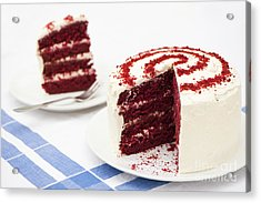 A Big Red Cake Acrylic Print by Anne Gilbert