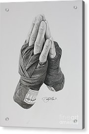 A Boxer's Prayer Acrylic Print by Joshua Navarra