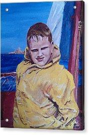 A Boy On A Boat Acrylic Print by Jack Skinner