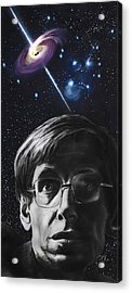 A Brief History Of Time- Stephen Hawking Acrylic Print by Simon Kregar
