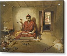 A Buddhist Monk, From India Ancient Acrylic Print by William 'Crimea' Simpson
