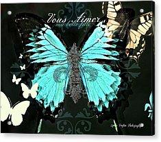 A Butterfly For Terra Acrylic Print by Lynda Payton