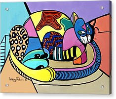 A Cat Named Picasso Acrylic Print by Anthony Falbo