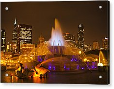 A Chicago Twilight Acrylic Print by Andrew Soundarajan