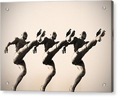 A Chorus Line Acrylic Print by Bill Cannon