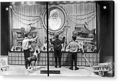 A Christmas Window Display Acrylic Print by Underwood Archives
