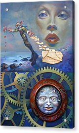 A Clockwerk Moone Is A Harsh Mistress Acrylic Print by Patrick Anthony Pierson