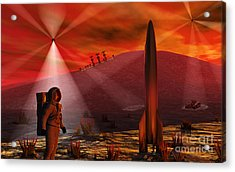 A Colony Being Established On An Alien Acrylic Print by Mark Stevenson