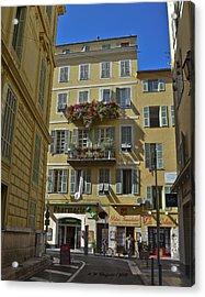 A Corner In Nice Acrylic Print by Allen Sheffield