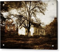 A Country Church Acrylic Print by Cynthia Lassiter